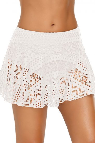 Lace Skirted Bikini Bottom