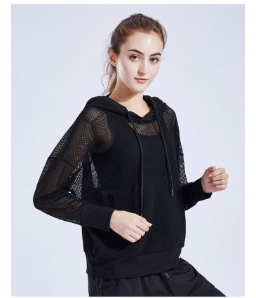 Mesh Hoodies Sports Running Pullover Loose Tees