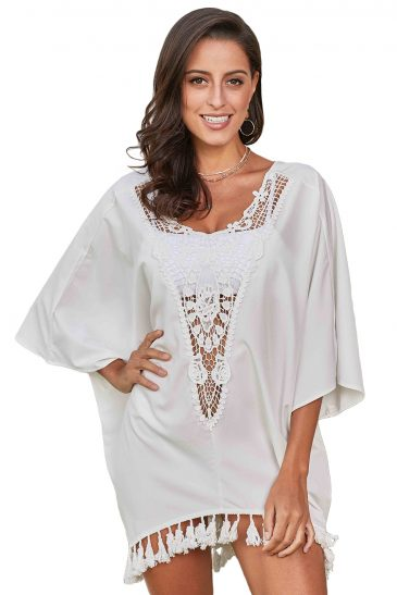 Covered Crochet Swim Cover Up