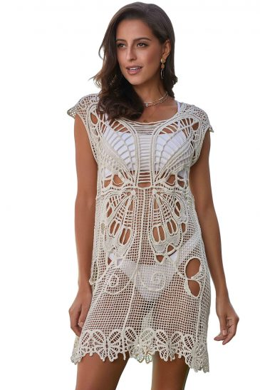 Butterfly Crochet Beach Cover up
