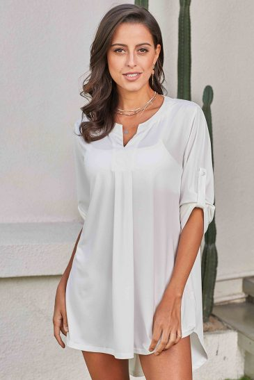 V Cut Neck Beach Cover up