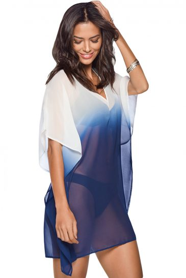 V Neck Kimono Sleeve Beach Cover up