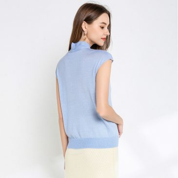Sleeveless Knit Tops T Shirt Sweater